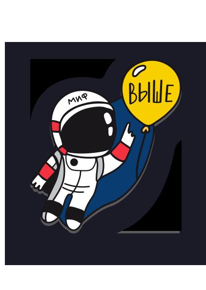 Значок Космонавт